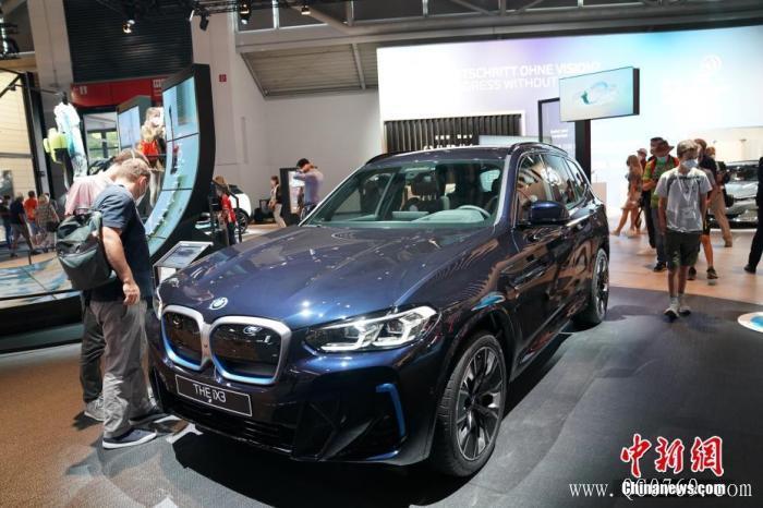 图为宝马展出的纯电动SUV轿车BMW iX3亮相。 <a target='_blank' href='http://www.chinanews.com/'>中新社</a>记者 彭大伟 摄