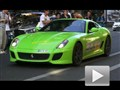 绿色梦魇!法拉利599 GTO街头弹射起步